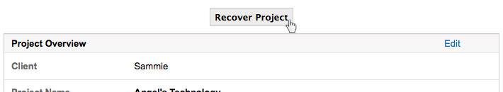 recover project